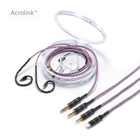 Acrolink 2.5/3.5/4.4mm/phone Silver mix copper Plated Earphone Upgrade Wire Headphone Cable LS50 LS70 LS200 LS300 E40 E50 A2DC