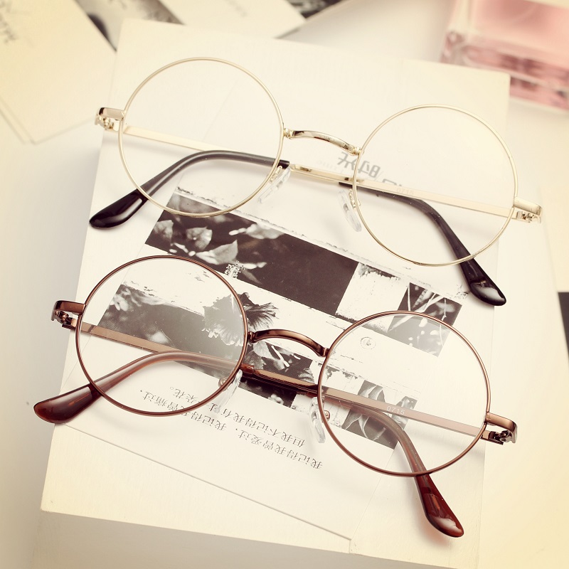 Retro Reading Glasses for women Spectacles transparent eyewear mens computer metal round eyeglasses korea vinage clear eyeglass ...