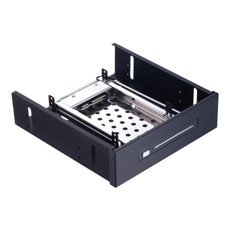 2.5in SATA aluminum case to 5.25 bay ssd adapter hdd swap internal enclosure hdd mobile rack oimaster swap 2 dual 2 5 sata hdd ssd internal enclosure black max 1tb x 2