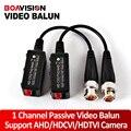 Alta Definición 1 Pares Video Balun Transceptor UTP Cable Coaxial Soporte Adaptador de 200-450 m Distancia AHD/HDCVI/HDTVI Cámaras