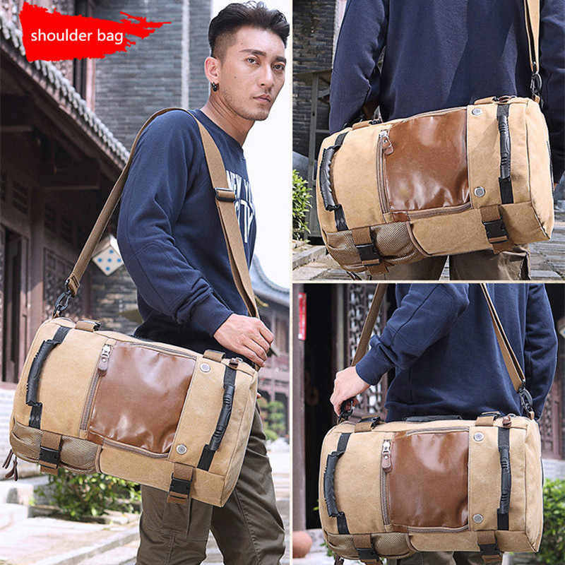 7ae0c80a1fc2 ... Brand Men Backpack Large Capacity Travel Bag Male Luggage Canvas backpack  Shoulder Computer Backpacking Functional Laptop ...