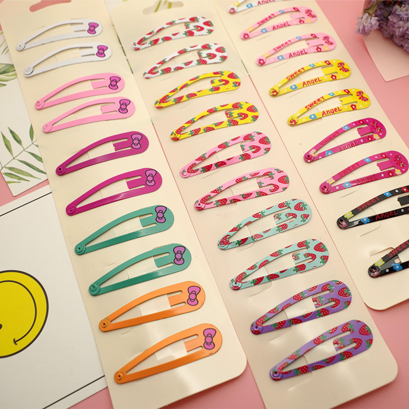 LOEEL 10Pcs/Lot Fashion Girls Animal Print Hairpins   Headwear   Set Kid's Barrettes Hair Clips Snap Clips Children Hair Accessories