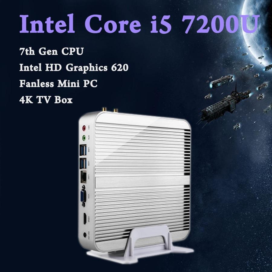 Mini PC Intel Core i5 7200 Gráficos 620 Juegos de PC Ultra Nettop de trois ans W