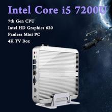 Мини-ПК Intel Core i5 7200 Графика 620 Игровой ПК Ультра Nettop de trois ans Windows 10, linux Модерн Кабы Лак 4 К HTPC Intel HD