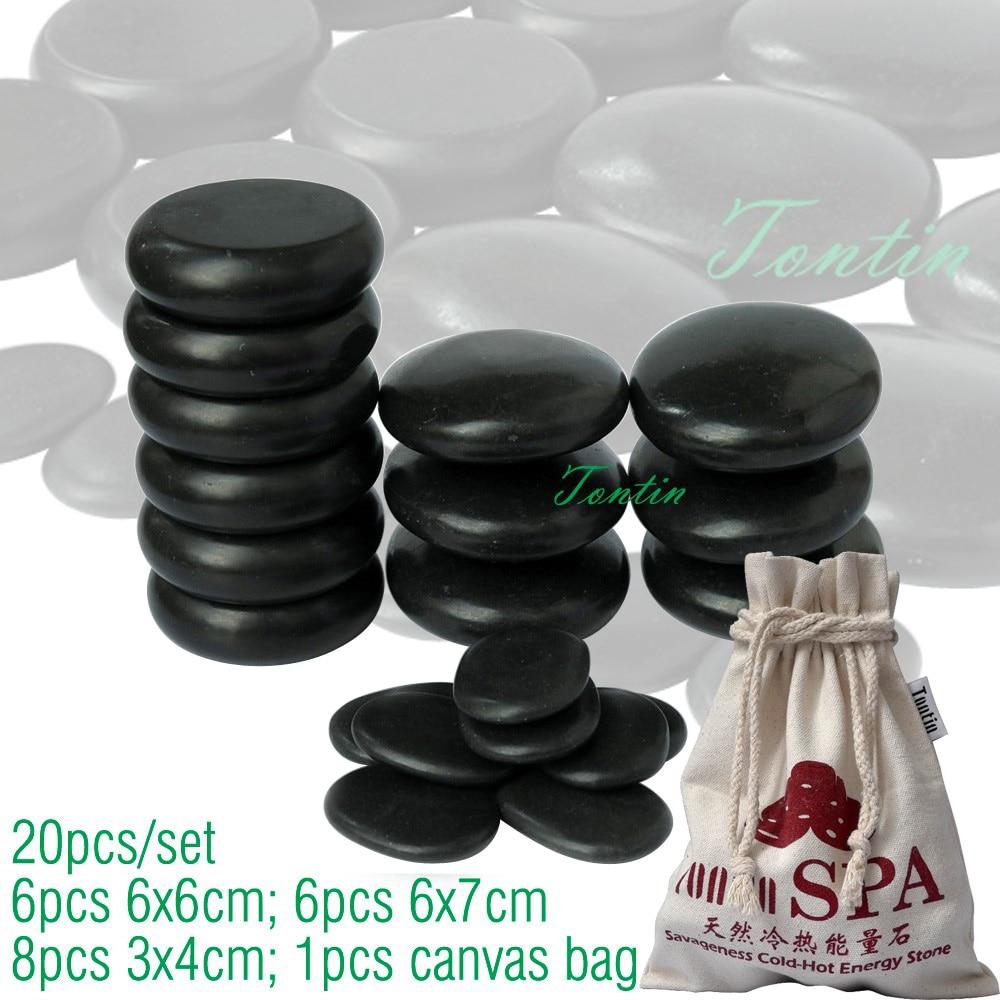 TONTIN Hot Massage Energy Body Basalt Stone Set Beauty Salon SPA with Thick Canvas Bag CE and ROHS 20pcs per set набор tefal jamie oliver e874s574