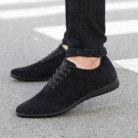 Autumn Winter Men Shoes Fashion Low Casual Shoes Men Canvas Shoes High Quality Black Dress Shoes
