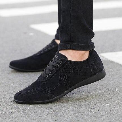 Automne/hiver hommes chaussures mode bas chaussures décontractées hommes toile chaussures haute qualité noir robe chaussures hommes baskets Zapatillas Hombre
