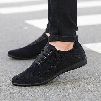 Autumn/Winter Men Shoes Fashion Low Casual Shoes Men Canvas Shoes High Quality Black Dress Shoes Men Sneakers Zapatillas Hombre