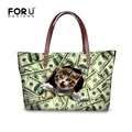 FORUDESIGNS 3D Cute Animal Cat Print Handbag For Women Casual Ladies Girls Travel Tote Shoulder Bag Large Capacity Shopper Bags