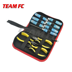 Image 1 - 1/10 Screwdriver Hexagon Socket Slotted Diagonal Cutter Ball Link Plier Tools Kit Box Set for RC Quadcopter Helicopter Car S256
