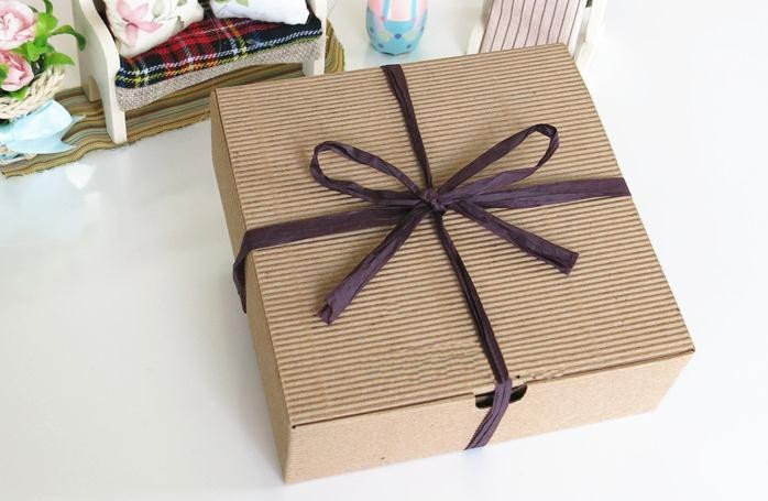 15 15 5CM Kraft Paper Corrugated Packaging Boxes Cake Box Food Packaging Gift Box 100pcs lot