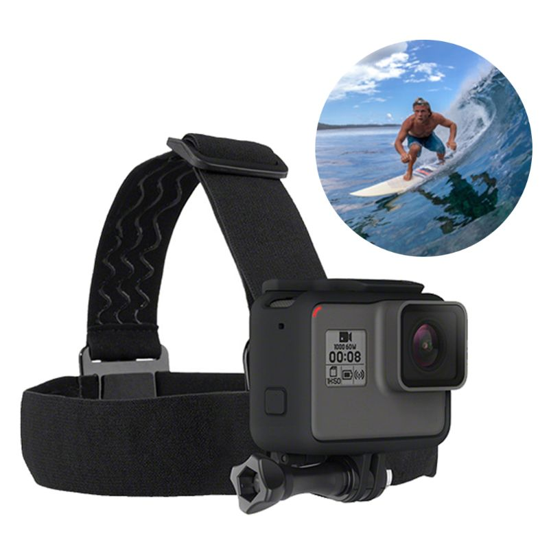 Sports camera Headband Belt Headlight Lamp Elastic Adjustable Head Strap For Gop