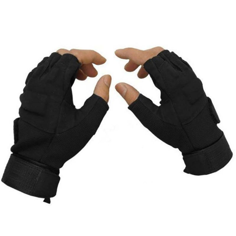 цена на Outdoor Men tactical gloves Sports Army Half finger Military Tactical Airsoft Shooting Hunting Gloves