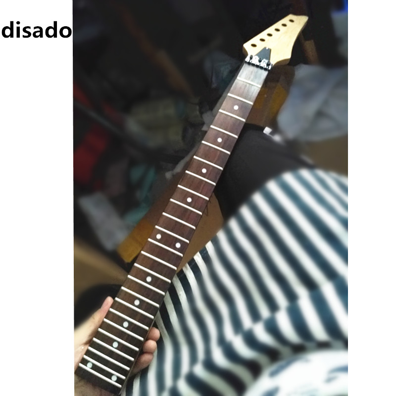 disado 24Frets maple Electric Guitar Neck rosewood fingerboard inlay dots wood color Guitar accessories parts Musical instrumen стоимость