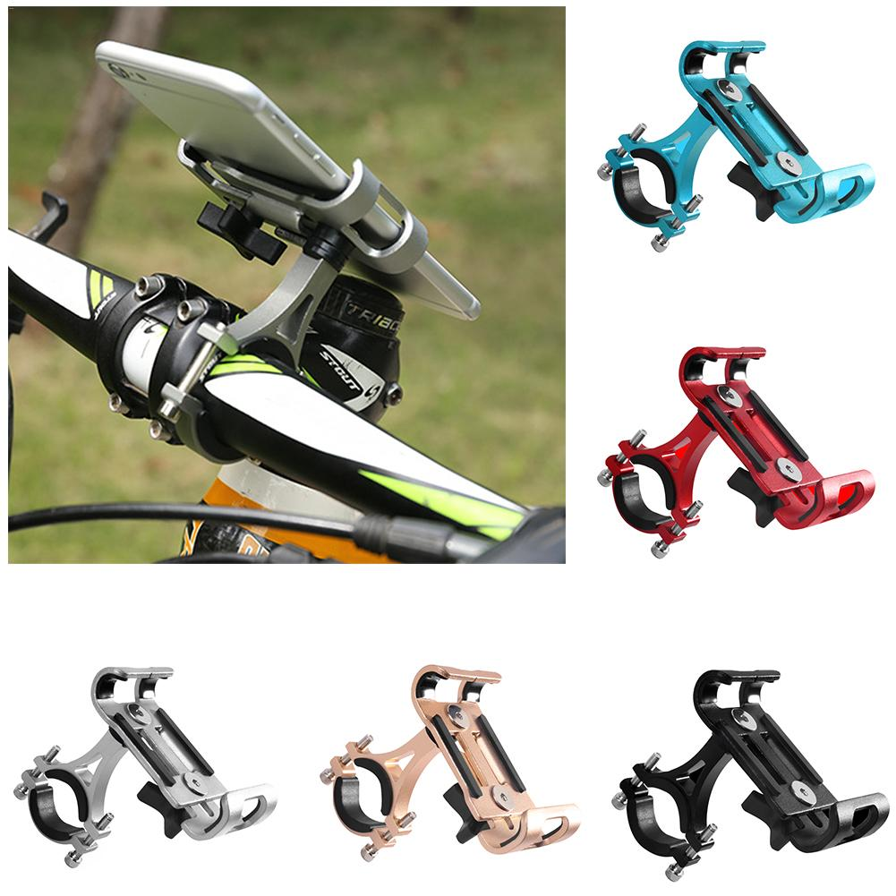 MTB Cycling Road Bike Phone Holder Aluminum Alloy 360 Degree Rotation Bicycle Mobile Phone Holder sx 005 360 degree rotating vehicle general magnetic phone mount holder
