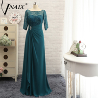 Vnaix M3012 Elegant 3/4 Sleeves Long Mother Of The Bride Dresses Lace Beaute Plus Size For Weddings Formal Evening Gowns