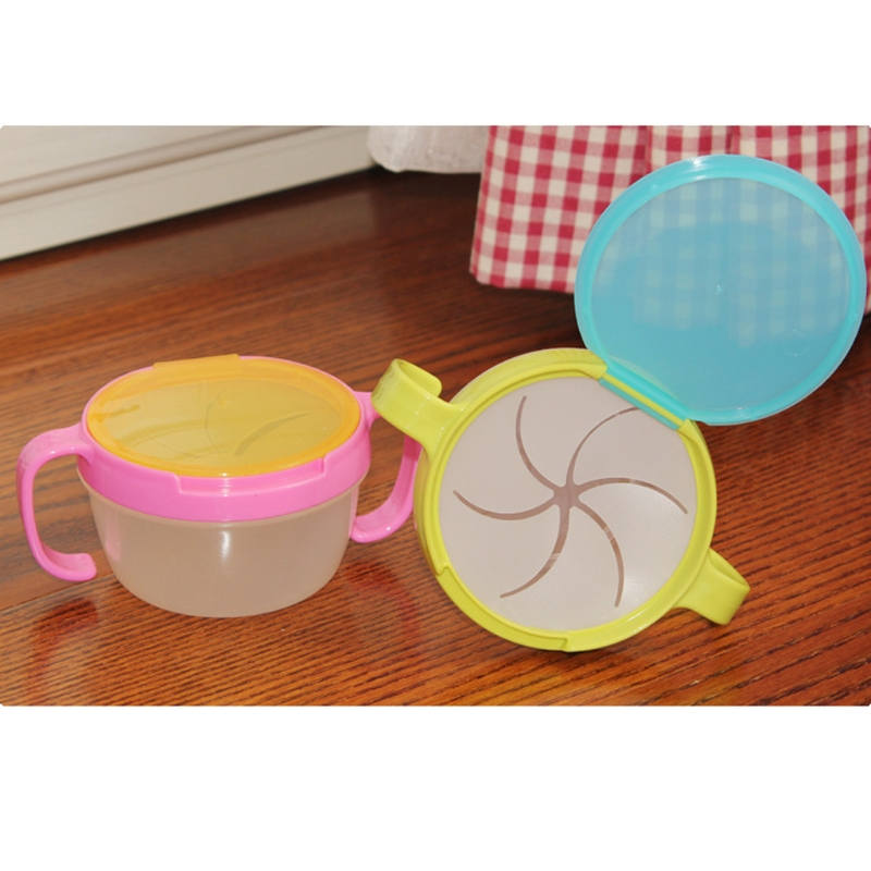 Healthy Baby Spill-Proof Bowl Dish Infant Snack Bowls Food Container Feeding Assist Food