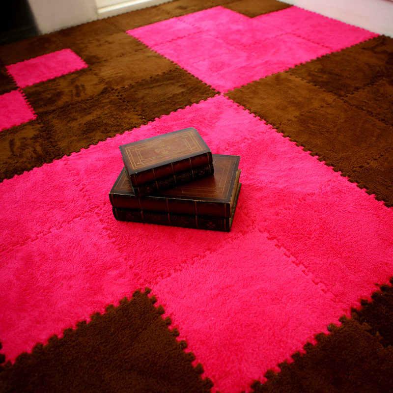 ห้องนั่งเล่นห้องนอนเด็กอ่อนนุ่ม Patchwork พรม Magic จิ๊กซอว์ Splice ปริศนาปีนเขาเสื่อเด็กเล่นเกมพรม 30*30 ซม.