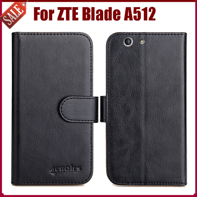 Hot Sale! ZTE Blade A512 Case High Quality 6 Colors Flip Leather Exclusive Protective Cover For ZTE Blade A512 Case