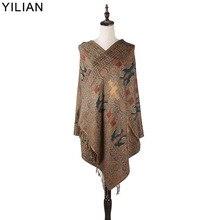 0.23kg YILIAN Brand Print Bohemia Paisley Retro Pattern Scarf Women 2018 Autumn and Winter Fashion Cotton Women Shawl Head Scarf