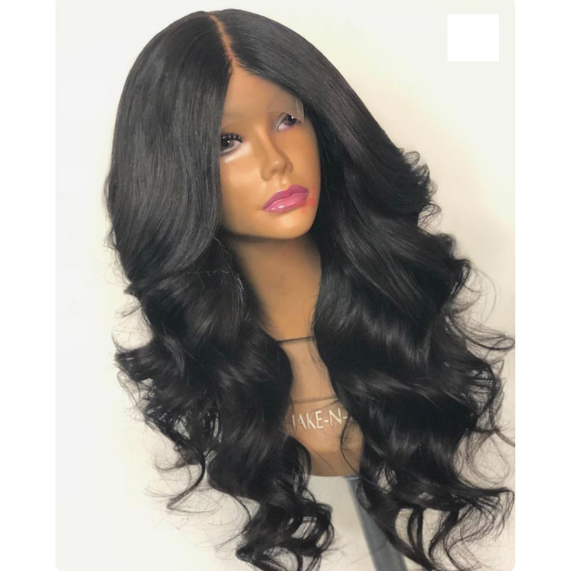 LUFFYHAIR Malaysian Lace Front Wigs Wavy Middle Part Remy Hair Lace Front Wigs For Black Women Sale
