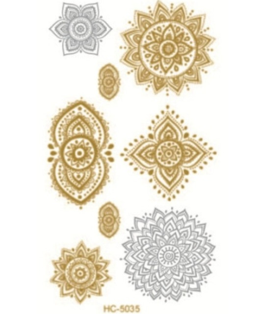 Impermeable Pegatinas Tatuajes Hot Stamping Plata Fábrica Al Por