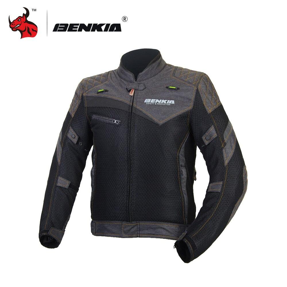 BENKIA Moto Maille Veste Moto Jeans Veste Moto Racing Veste Moto Vêtements Chaqueta Moto Hombre Noir Moto Veste