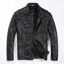 Livraison gratuite. tout nouveau manteau en peau de vache pour homme, veste en cuir véritable pour homme, vestes de motard à moteur cool slim fashion. qualité. grande taille