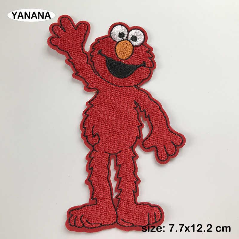 Elke Soort Van Mooie Muppet Babies Cartoon Pop Lachend Gezicht Portret Ijzer Op Geborduurde Kleding Stickers Diy Kleding