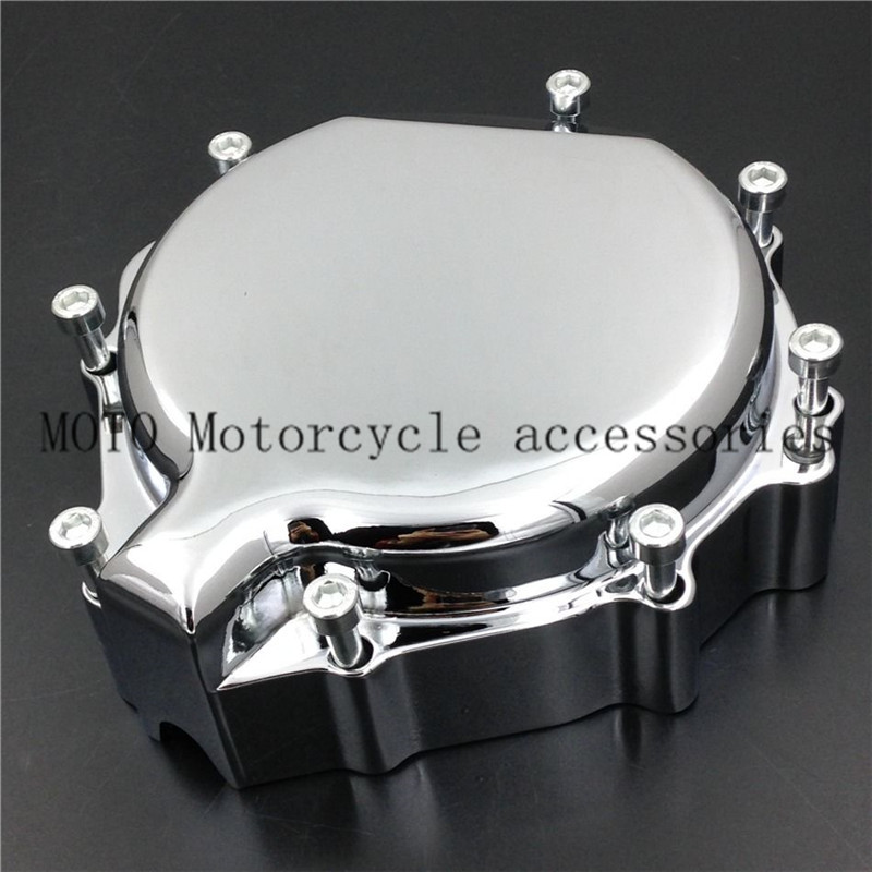 Motorcycle Stator Engine Cover For Suzuki GSXR GSX-R 600 750 1000 2001 2002 Aluminum Motorbike Stator Engine Covers for motorcycle suzuki 2004 gsxr600 750 1000 engine stator cover see through chrome left