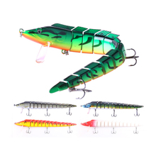 ThunderShower 1pcs 13 Sections Jointed Fishing Lure 46g Synthetic Onerous Bait Swimbait 5 Colours 23CM