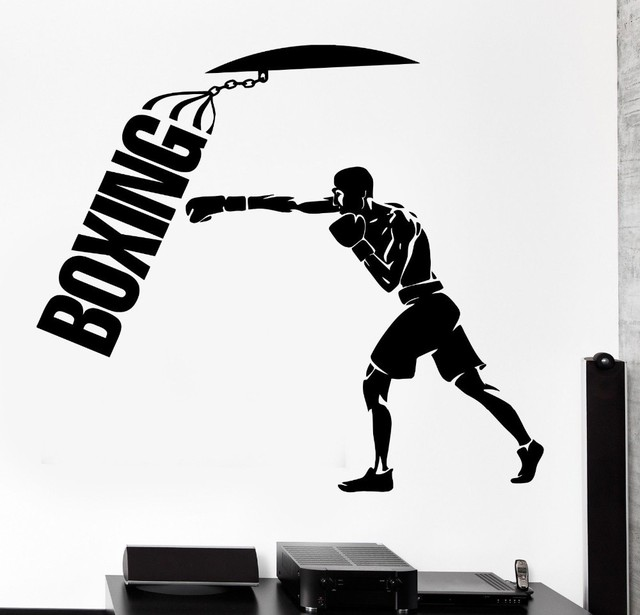 Removable Wall Sticker Vinyl Decal Home Decor Sport Boxing Punching Bag Martial Wallpaper Arts