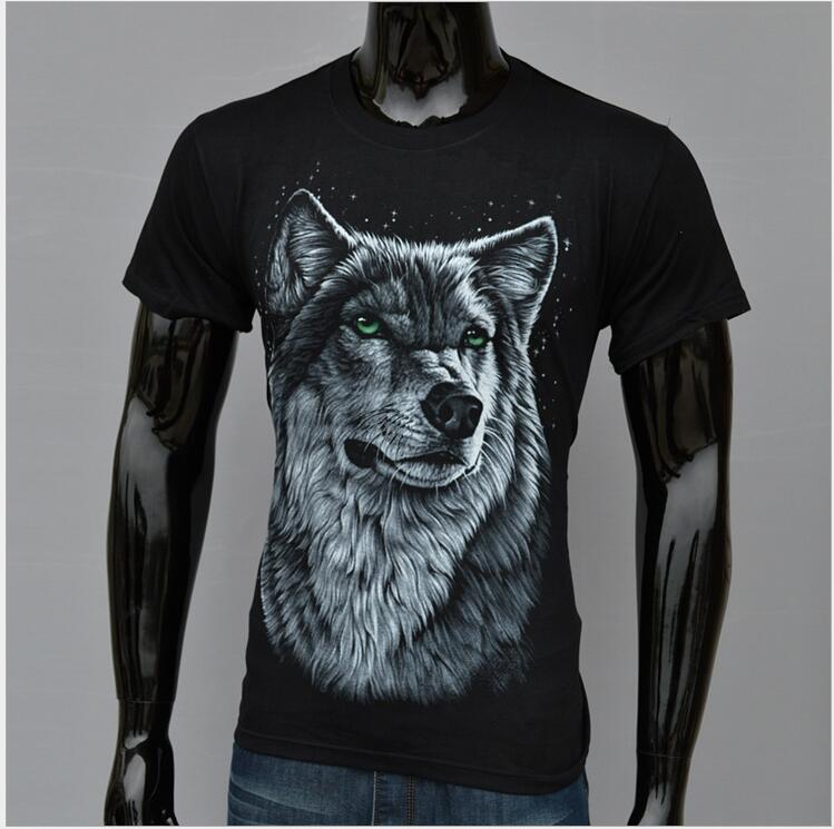 T-Shirt Boy Short-Sleeve Summer-Style Fashion Child Round Youth Cotton Print Snow-Wolf