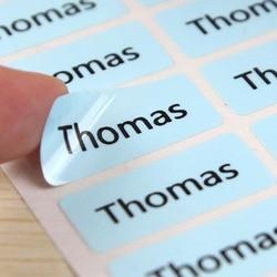 60 szt. Cieniowanie nazwa naklejki spersonalizowane etykiety tagi wodoodporne naklejki etykiety biznesowe naklejki szkolne dla dzieci