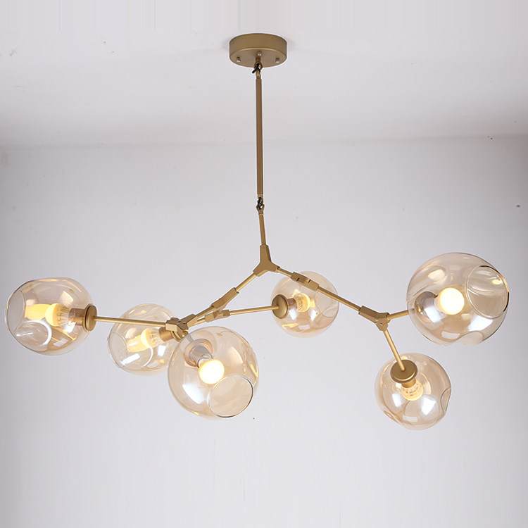 Caractéristique Lindsey Adelman fer Pendentif luminaire génie Industriel verre pendentif lampe chambre restaurant lumière E27