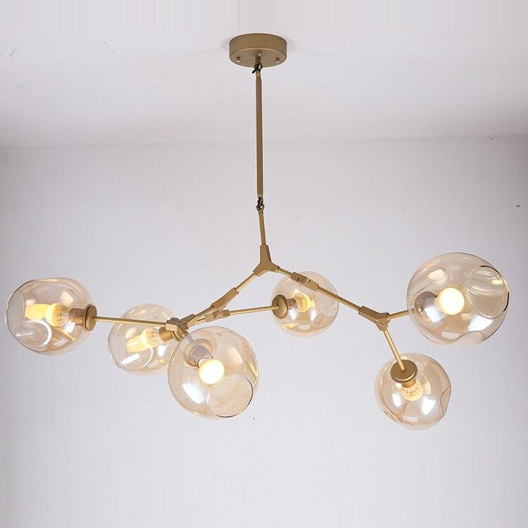 Caractéristique Lindsey Adelman luminaire Suspendu En fer génie Industriel en verre pendentif lampe chambre restaurant lumière E27