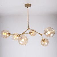 Characteristic Lindsey Adelman iron Pendant Light fixture Industrial engineering glass pendant lamp bedroom restaurant light E27