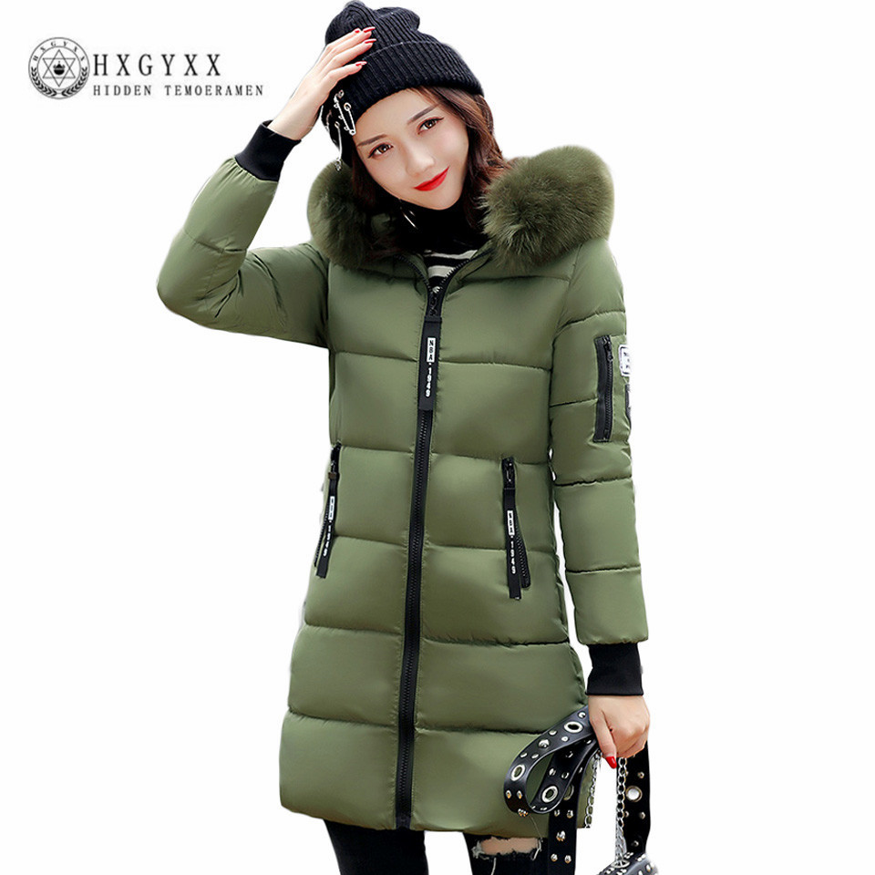 New Long Parkas For Women Winter Slim Wadded Cheap Coats Plus Size ...