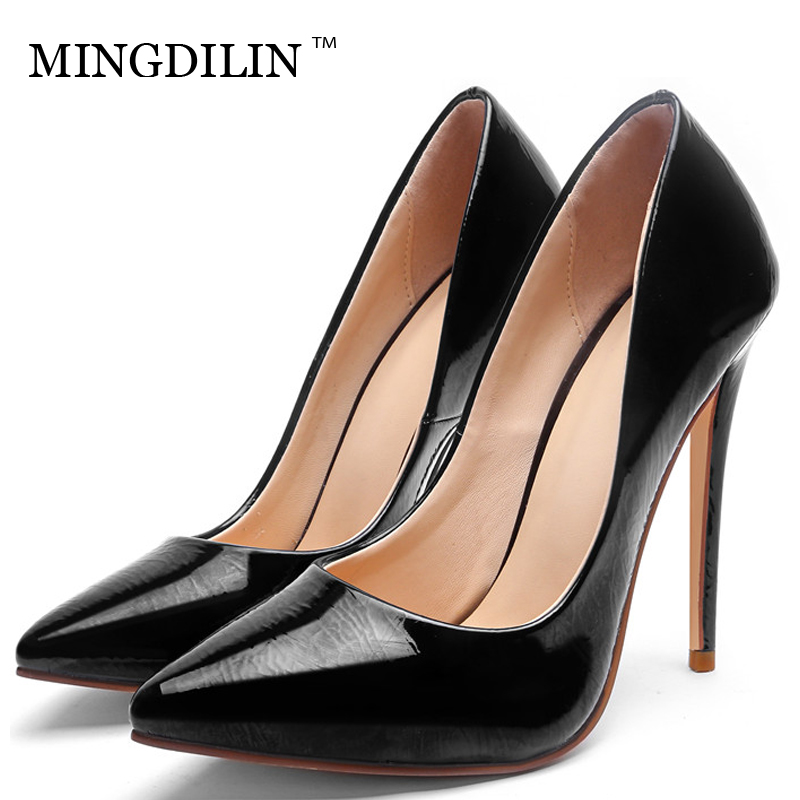 MINGDILIN Sexy Women's High Heels Shoes Plus Size 33 43 Woman Heel Shoes Purple Green Pointed Toe Wedding Party Pumps Stiletto mingdilin sexy women s heel shoes high heels shoes woman pumps plus size 33 43 pointed toe ping red wedding party pumps stiletto