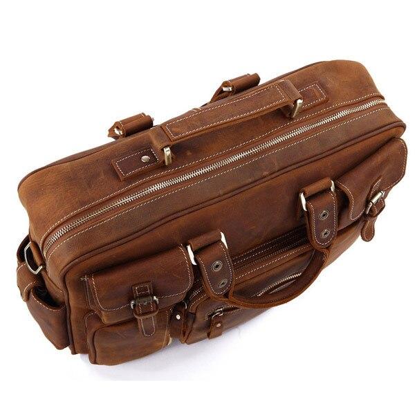 Rare 7028b Leder Herren Crazy Laptop Aktentasche Heißer Verkauf Tote Horse 1 Tasche q5FwxRRCpW