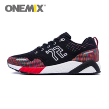 Original ONEMIX Running Shoes for Men Flywire Reflective Leather Zapatillas Mujer Deportivas Athletic Shoes Sneakers Free Ship
