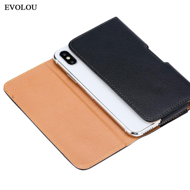 Universal Casual Leather Phone Pouch With Holster Bag Belt For Mobile Phones 3