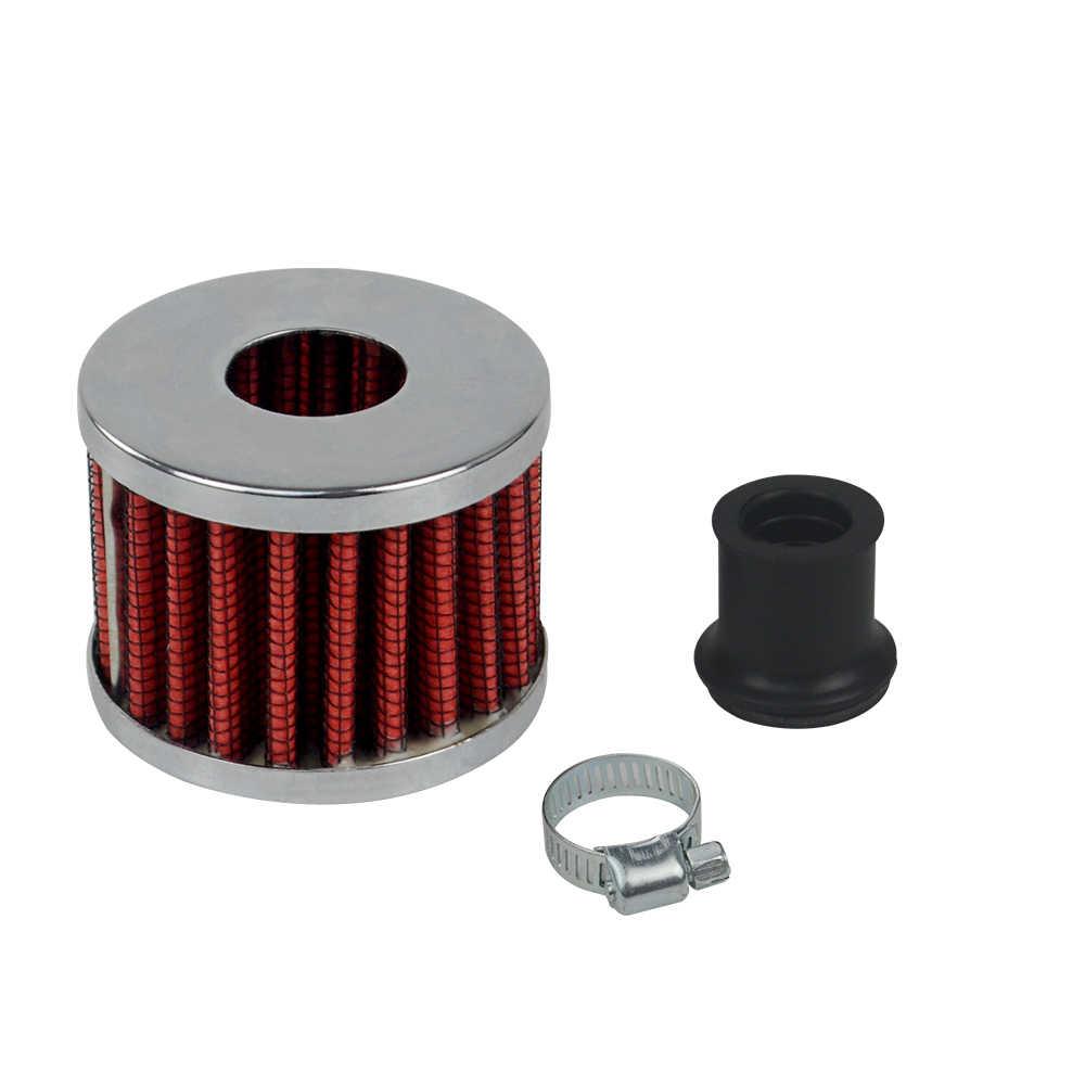 Hypertune-uniwersalny interfejs motocyklowe filtry powietrza 12mm Sliver stożek samochodowy filtr wlotu zimnego powietrza Turbo Vent skrzynia korbowa HT-AIT12