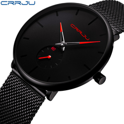 Crrju Watch Women And Men Watch Top Brand Luxury Famous Dress Fashion Watches Unisex Ultra Thin Wristwatch Relojes Para Hombre