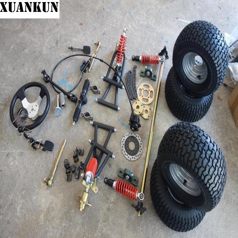 XUANKUN DIY Vier Rad Elektrische Motorrad Drift Kart Aaccessories ...