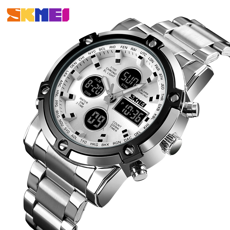 <font><b>SKMEI</b></font> Men Watch Digital Watch Waterproof Wristwatches Analog Men Luxury Sport Calories Chrono Alarm Men Watch Relogio Masculino image