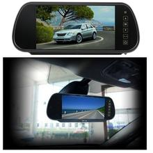 "7"" TFT LCD 16:9 Widescreen Car Rearview Mirror Monitor With Car monitor mirror for Video Devices Supports 2 Video Input"