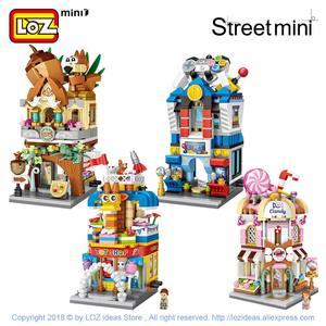 Image 4 - LOZ Mini cegły widok na miasto scena Mini Model uliczny zabawki budowlane pokój gier sklep z cukierkami sklep z zabawkami architektura dzieci DIY
