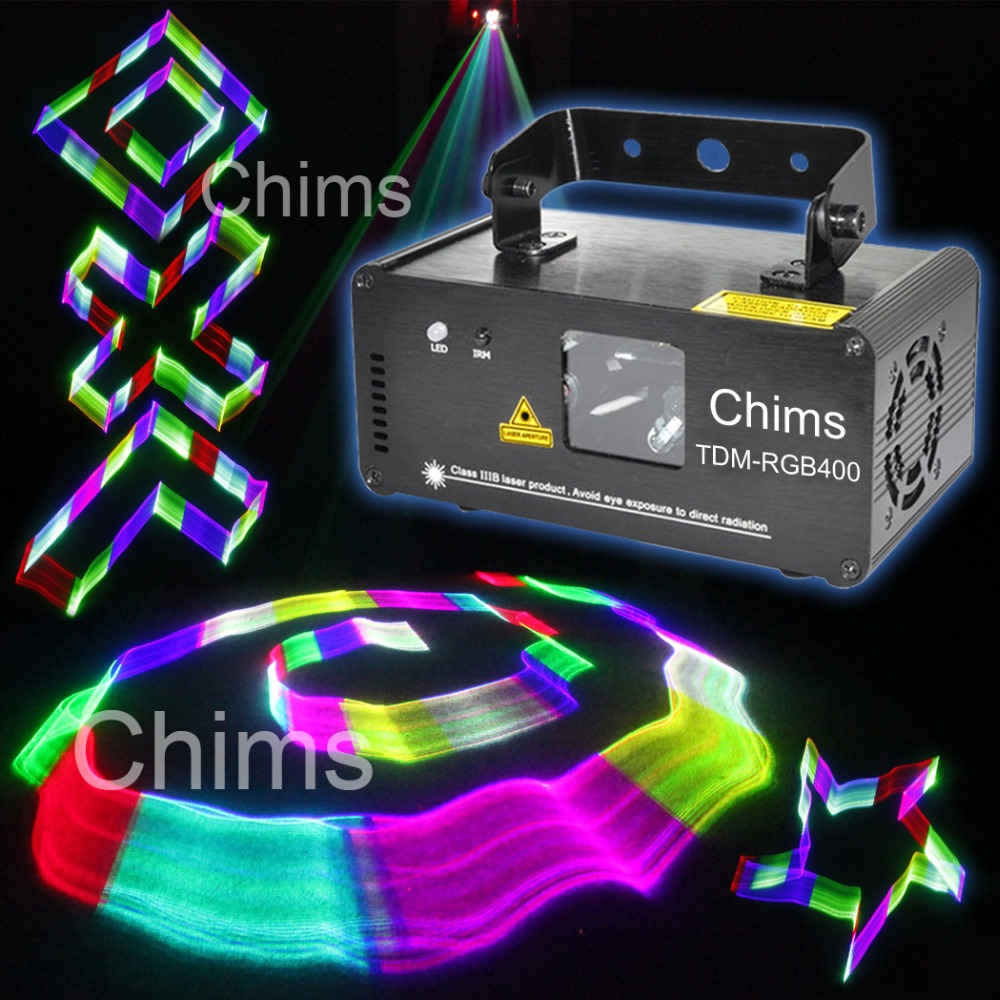 DMX 512 Control 3D Effect Laser Scanner RGB Channel Powerful Colorful Bright Stage Lighting Projector Party