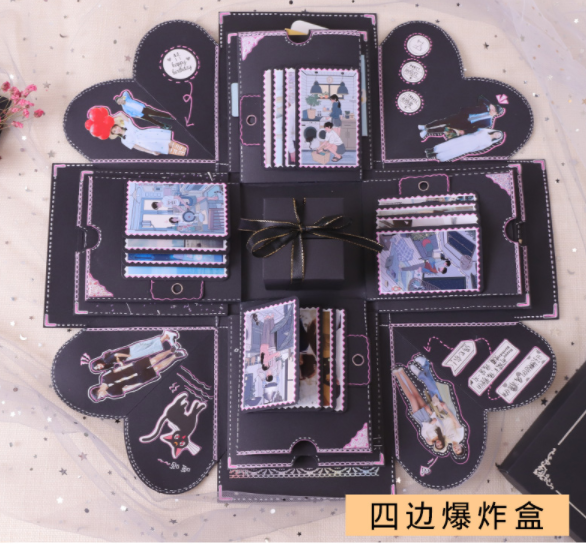 Mouse Over To Zoom In DIY Surprise Love Explosion Box Gift For Anniversary Scrapbook Photo Album Birthday 15x15x15cm